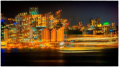 Hong Kong Skyline - p1154m2053620 by Tom Hogan