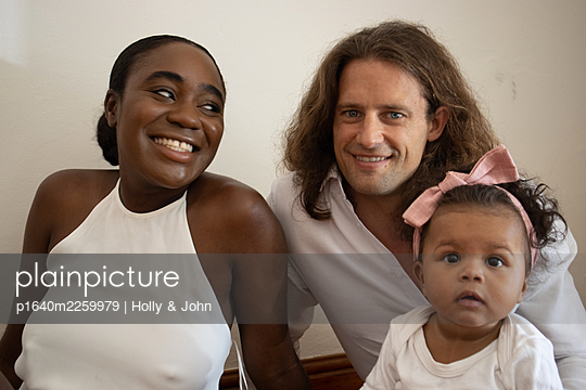 Multi ethnic family with toddler girl - p1640m2259979 by Holly & John