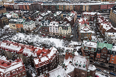 City buildings at winter - p312m1139836 by Peter Rutherhagen