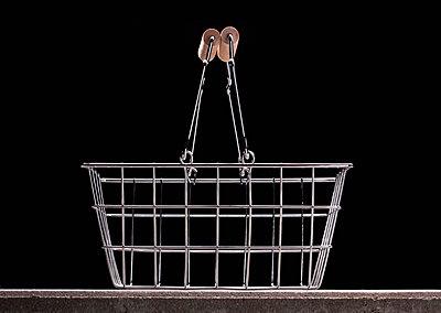 Empty shopping basket - p301m730930f by Larry Washburn