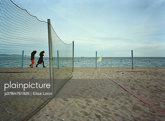 Volley ball pitch on beach