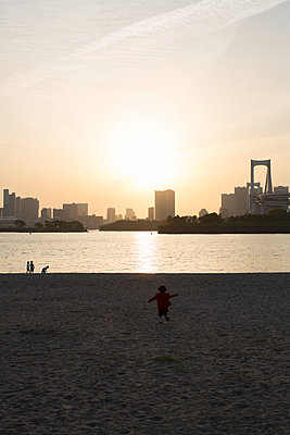 Odaiba at sunset - p1134m1440646 by Pia Grimbühler