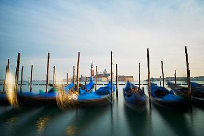 Gondolas in Venice - p1312m1575184 by Axel Killian