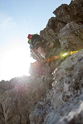 Klettern, Nebelhorn, Bayern - p427m1072746 von R. Mohr