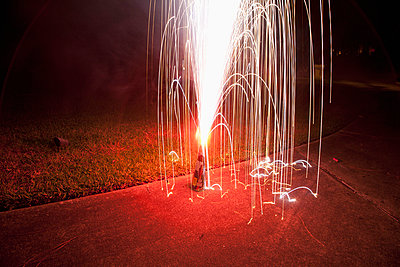 An ignited firework - p301m744151f by Frederick Bass