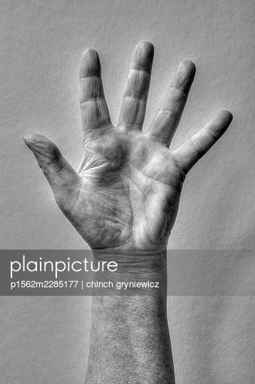 Raised Hand with Spread Fingers - p1562m2285177 by chinch gryniewicz