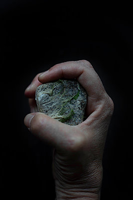 Stone in hand - p445m2125941 by Marie Docher