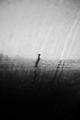 Silhouette of person seen through car window  - p1411m2128320 by Florent Drillon