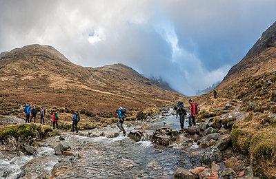 UK, Scotland, Glencoe, trekking at Sron na Lairig - p300m1356042 by Alun Richardson