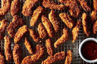 cornflake semi fried chicken tenders - p1379m1525450 by James Ransom