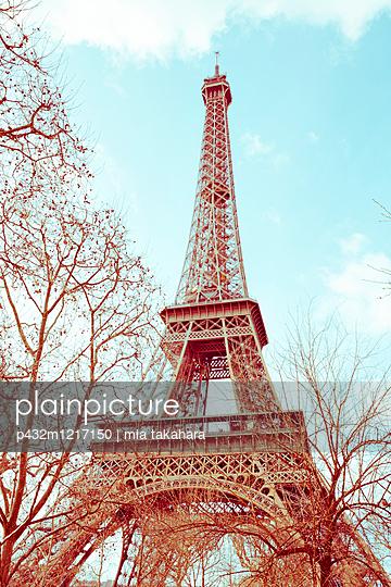 Blick auf den Eiffelturm - p432m1217150 von mia takahara
