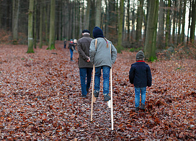 Cumbersome walk in the forest - p249m852171 by Ute Mans
