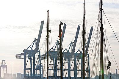 Harbour Hamburg; Germany - p4880530 by Bias