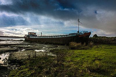 Barge Moored  - p1082m2056817 by Daniel Allan