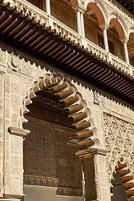 Architecture of the Alhambra in Spain - p1146m2150566 by Stephanie Uhlenbrock