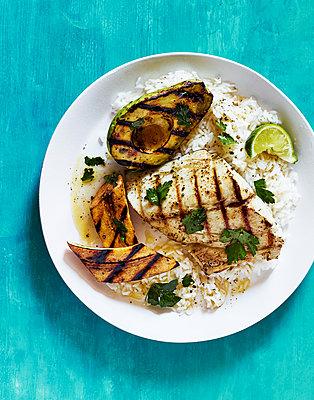 Fish dish - p1397m2054560 by David Prince