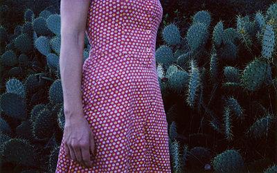 Red dress  - p1521m2064672 by Charlotte Zobel