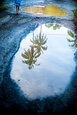 Puddle reflection - p680m1511665 by Stella Mai