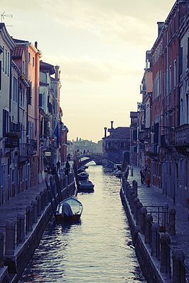 Italy, Venice, canal with bridge - p1189m2176194 by Adnan Arnaout