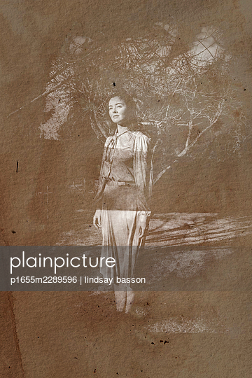 A Vintage Photo Of A Woman - p1655m2289596 by lindsay basson