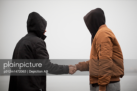 Two men having handshake