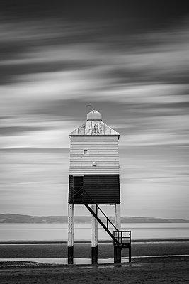 Wooden lighthouse at Burnham-on-Sea, Somerset, England, United Kingdom, Europe - p871m2209656 by Adam Burton