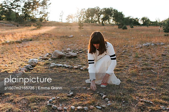 Heart made of rocks - p1507m2165735 by Emma Grann