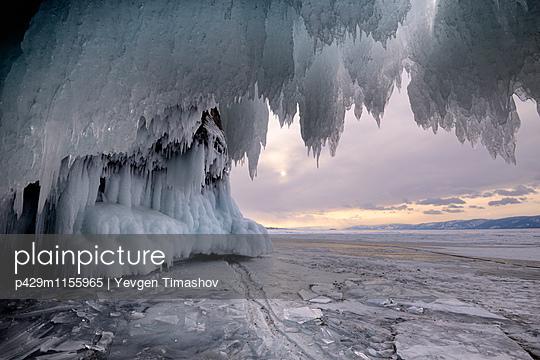 Kharantsy ice caves, Baikal Lake, Olkhon Island, Siberia, Russia - p429m1155965 by Yevgen Timashov