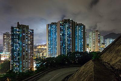 Yau Tong at night - p1558m2132786 by Luca Casonato