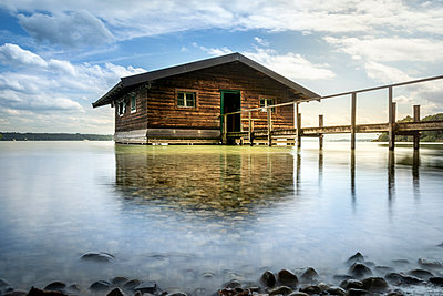 Boathouse on Lake Starnberg - p524m2125306 by PM