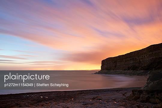 Sonnenuntergang am Meer - p1272m1154349 von Steffen Scheyhing