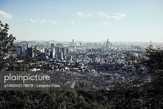 View over Seoul - p1492m2178678 by Leopold Fiala