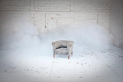 Armchair in the dust - p1513m2043879 by ESTELLE FENECH