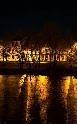 Riverside in Tartu by night - p971m865844 by Reilika Landen