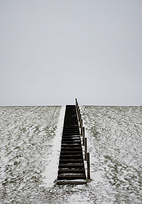 Staircase on the dike - p1132m2291572 by Mischa Keijser