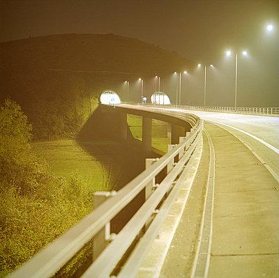 motorway at night - p3880087 by Bill Davies