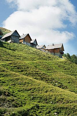 Alpine huts - p954m831722 by Heidi Mayer
