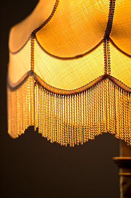 Vintage lampshade with fringes - p1418m1540170 by Jan Håkan Dahlström