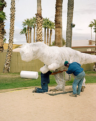 Wrapped dinosaur figure - p436m1445482 by R. Petersen