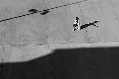 Playing with a shadow - p1245m1148704 by Catherine Minala