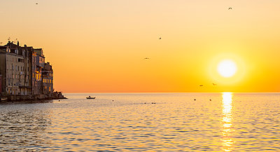 Sunset over sea, Rovinj, Dalmatia coast, Croatia - p429m2098587 by Henn Photography