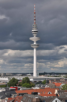 Television Tower Hamburg - p096m1044544 by Helga Lorbeer