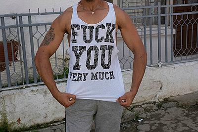 T-shirt - p402m953656 by Ramesh Amruth