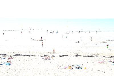 Jullouville beach - p1289m1525767 by Elisabeth Blanchet
