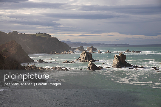 Cantabrian Coast at sunset - p1166m2131311 by Cavan Images