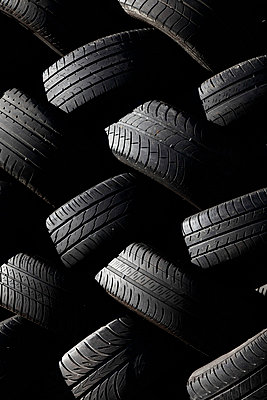Pile of Tires, Close-up - p694m756740 by Julio Calvo
