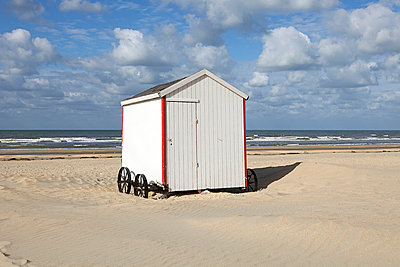Beach in Belgium - p5450087 by Ulf Philipowski