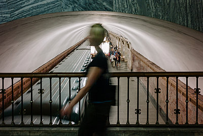 Subway station in moscow - p1085m2073253 by David Carreno Hansen