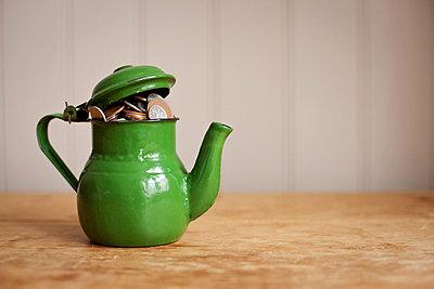 Money in a teapot - p92411841f by Ian Nolan