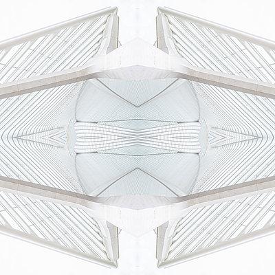 Abstract kaleidoscope pattern Liège-Guillemins station in Liège - p401m2209296 by Frank Baquet